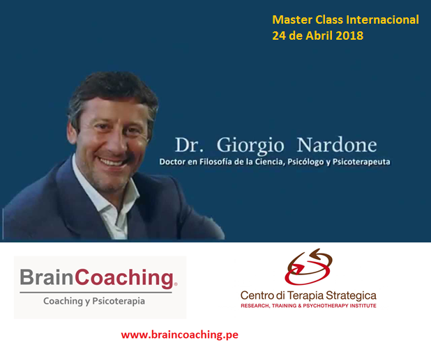 Master Class Internacional Con Giorgio Nardone PhD